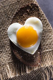 Egg heart. Royalty Free Stock Photos
