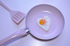 Egg in a heart shape. Royalty Free Stock Images