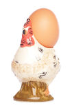 Egg in hen egg-cup Royalty Free Stock Photo