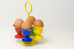 Egg holder with blue front Stock Image