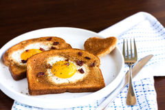 Egg In A Hole Stock Images