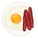 Egg-and-hotdogs Royalty Free Stock Images