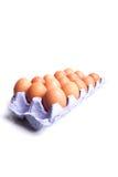 Egg, huevo del pollo aislado en el fondo blanco Fotografía de archivo