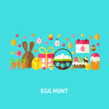 Egg Hunt Greeting Card Stock Photo