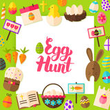 Egg Hunt Paper Concept Royalty Free Stock Photo