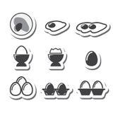 Egg icon set Royalty Free Stock Photo