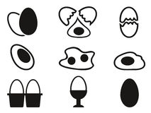 Egg icons set Stock Images