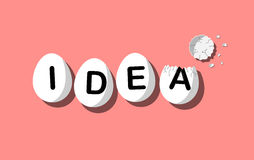 Egg IDEA vintage concept vector poster Royalty Free Stock Image