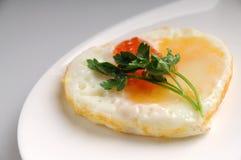 Egg il cuore Fotografie Stock Libere da Diritti