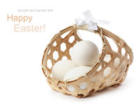 Free Egg In Basket Royalty Free Stock Photography - 18824607