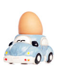Egg In Car Egg-cup Stock Photography