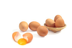Egg. Ingredient in the cooking of all kinds Stock Photography