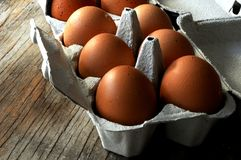 Egg ingredient package for pastry elaboration Royalty Free Stock Images