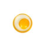 Egg isolated on white background. Stock Images