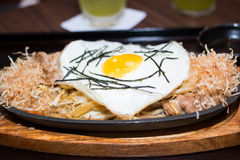 Egg on Japanese food Stock Images