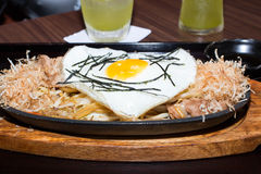 Egg on Japanese food Royalty Free Stock Images