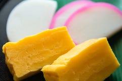 Egg and Kamaboko Stock Images