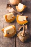 Egg la crème anglaise en desserts thaïlandais doux de potiron de potiron Image libre de droits