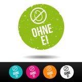 Egg la insignia libre del sello - icono E-I del mit de Ohne Stempel stock de ilustración
