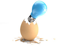 Egg light bulb Royalty Free Stock Photography
