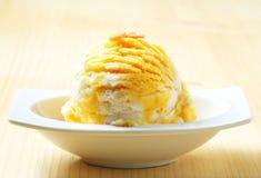 Egg Liqueur-Vanilla ice cream Royalty Free Stock Photography