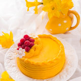 Egg liquor cake Stock Photos