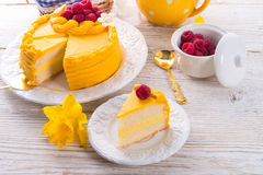 Egg liquor cake Royalty Free Stock Images