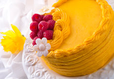 Egg liquor cake Stock Images