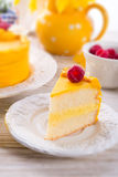 Egg liquor cake Royalty Free Stock Photography