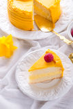 Egg liquor cake Stock Photography