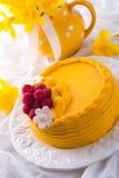 Egg liquor cake Stock Photo