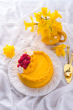 Egg liquor cake Royalty Free Stock Photo