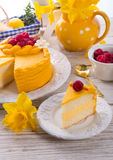 Egg liquor cake Stock Images