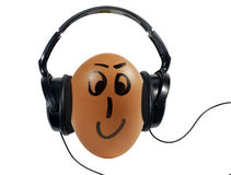 EGG LISTENING SWEET MUSIC Stock Photos