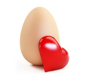 Egg love. On a white background Stock Images