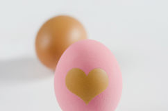 Egg with love Royalty Free Stock Photography