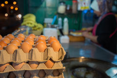 Egg for making an indian traditional food made of flour Royalty Free Stock Images