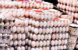Egg market royalty free stock photography
