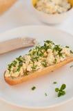 Egg and mayonaisse sandwich pasta Royalty Free Stock Photo