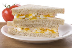 Egg  Mayonnaise And Caviar Sandwich Royalty Free Stock Photo