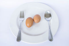 Egg meal Stock Photo
