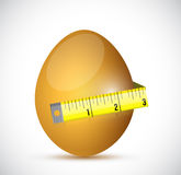 Egg and measure tape illustration design Royalty Free Stock Photo
