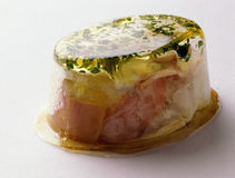 Egg and monkfish in aspic. Food, gastronomy, cooking,cookery Stock Photo