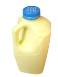 Egg Nog Bottle Stock Photo