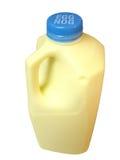 Egg Nog Bottle. View of an egg nog bottle, holiday season drink Stock Photo
