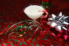 Egg Nog and Christmas Paper Stock Photo