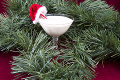 Egg Nog in Garland Royalty Free Stock Image
