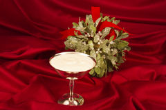 Egg Nog and Mistletoe Stock Image