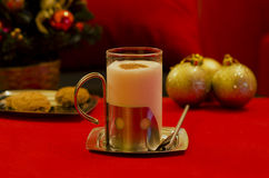 Egg nog in red Royalty Free Stock Image