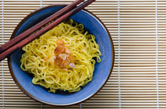 Egg Noodle with In Bowl. Egg noodle is the famous Chinese food its easy to enjoy eating Stock Image